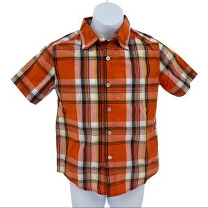 Faded Glory Plaid Short Sleeve Button Down Shirt